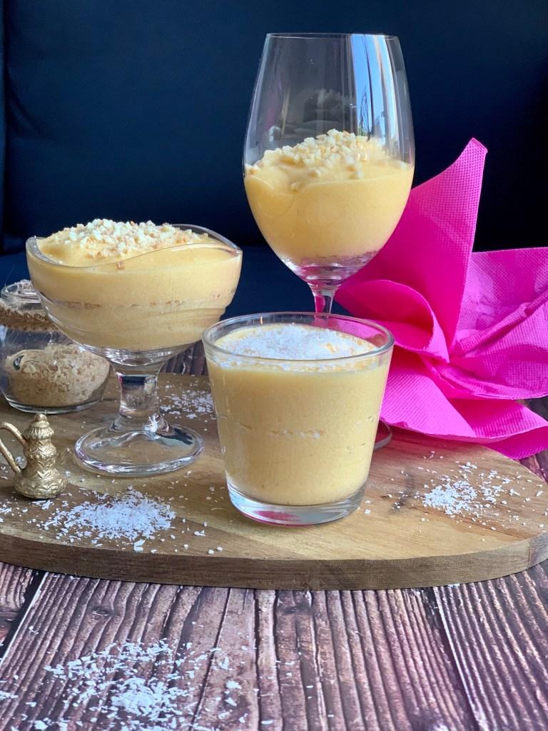 Presentación Mousse de Mango