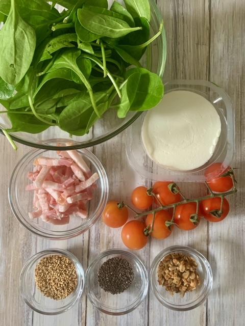 Ingredientes Ensalada Espinacas