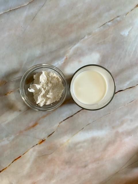 Maicena y leche