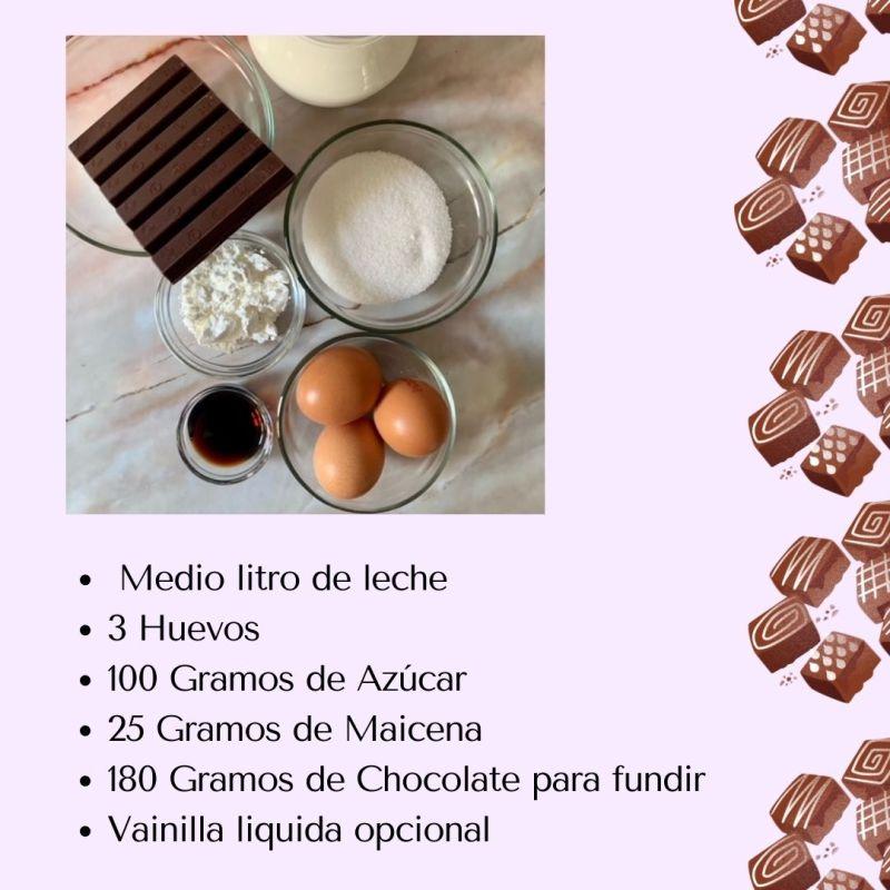 Ingredientes Natillas de Chocolate