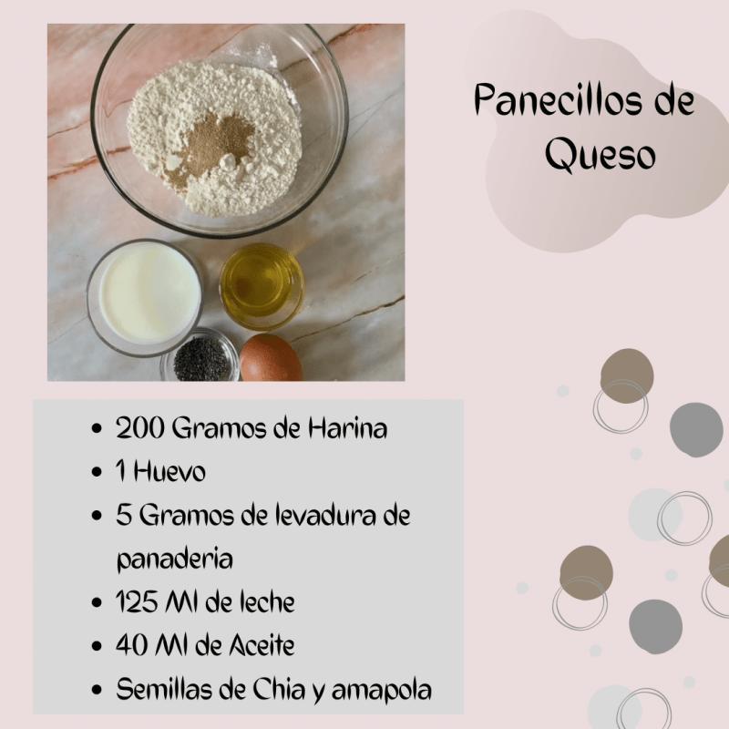 Ingredientes Panecillos de Queso