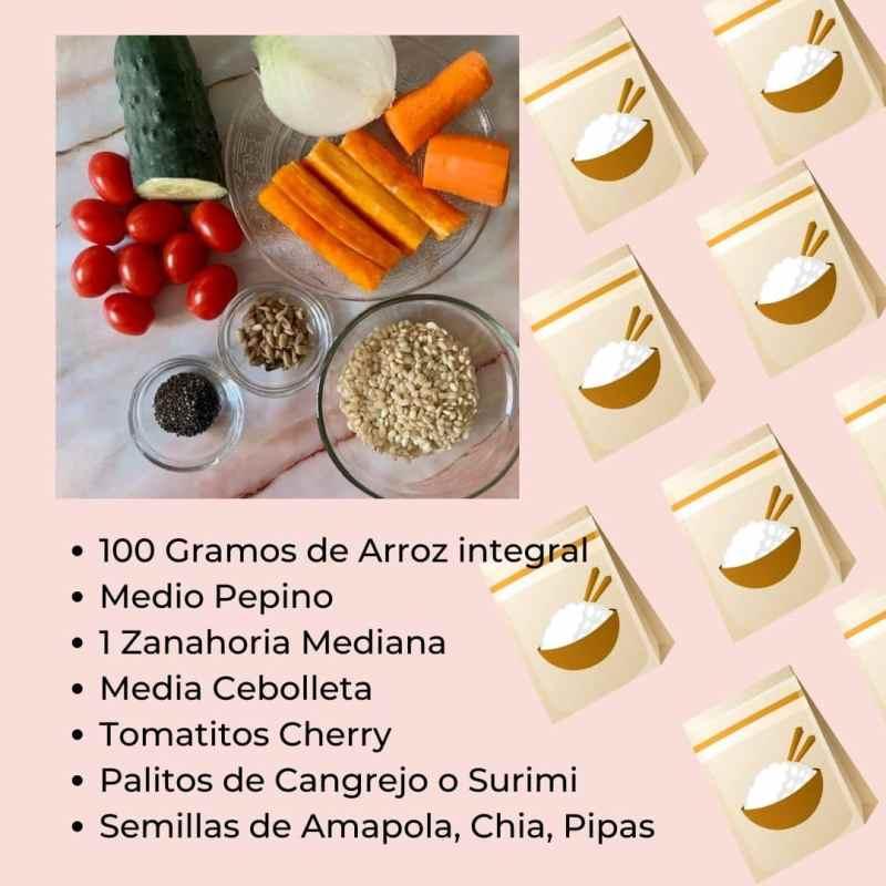 Ingredientes Ensalada de Arroz Integral