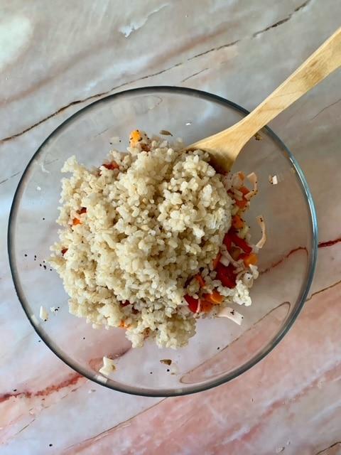 Añadimos el arroz integral