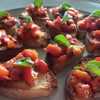 Bruschetta With Roasted Peppers