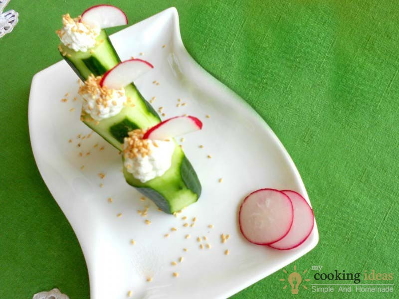 Don't Tell Me that You Won't Like These Stuffed Cucumbers !
