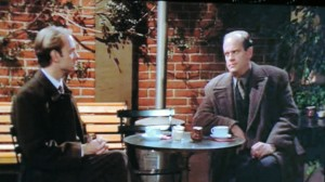 Frasier and Niles having coffee