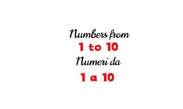 Italian numbers 1-10