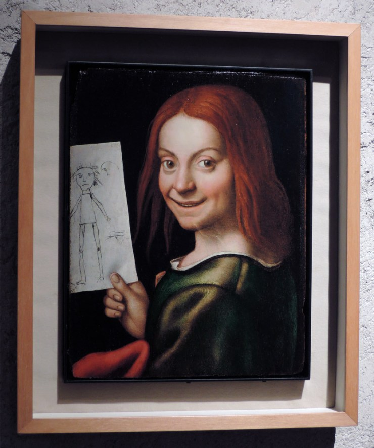 Portrait of a boy with a drawing, Caroto, Castelvecchio Museum Highlights