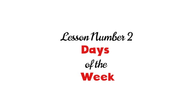 Lesson 2: Days of the week in italian