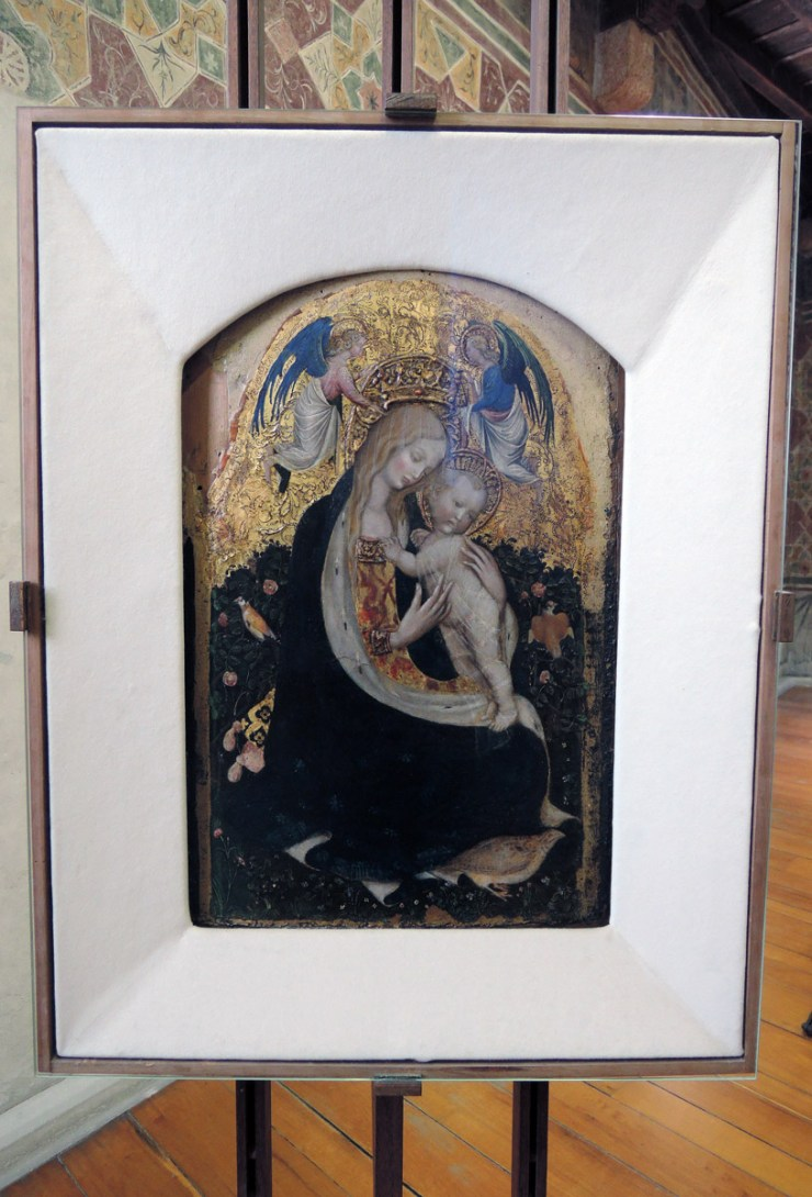 Madonna and Quail, Pisanello, Castelvecchio Museum Highlights