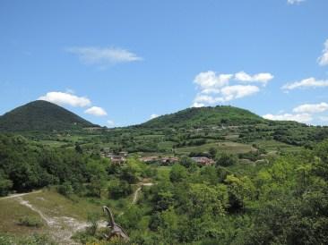 Hills and dinosaur