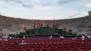 The stage of the Arena di Verona