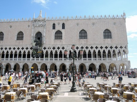 St Mark's Square, behind me there was the Biblioteca Marciana Entrance