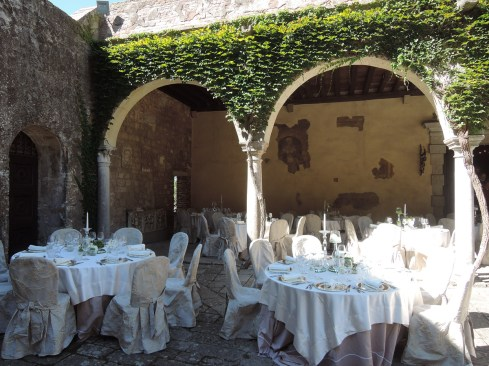 All set up for a Wedding, Monselice Castle