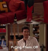 Ted Mosby and the red boots, he can pull them off