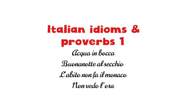 Italian idioms 1