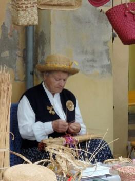 Weaving lady
