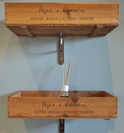 Wine crates shelves
