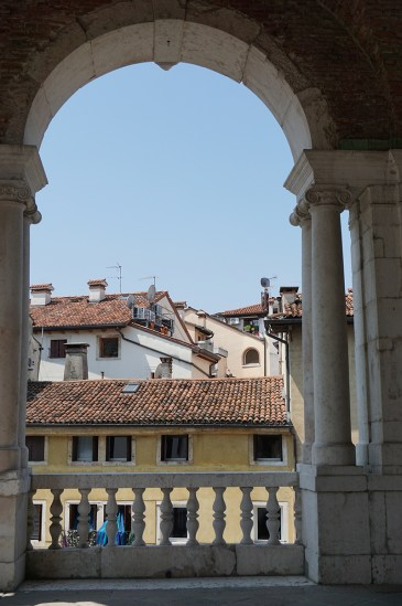 View of the rooftops from the Loggia
