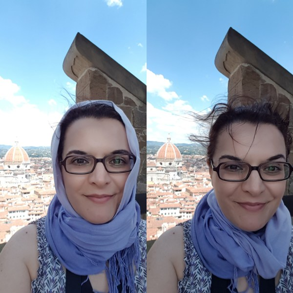 On top of Palazzo Vecchio is very windy (look at me without shawl)