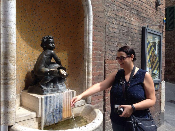 Me taking advantage of the Tartuca Fountain :D