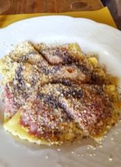 Casunziei (red turnip ravioli)