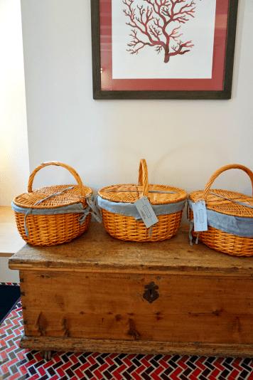 Breakfast baskets at Casa Burano