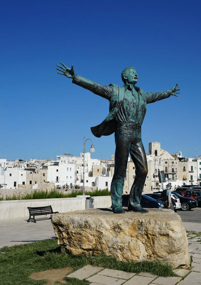 Domenico Modugno statue in Polignano