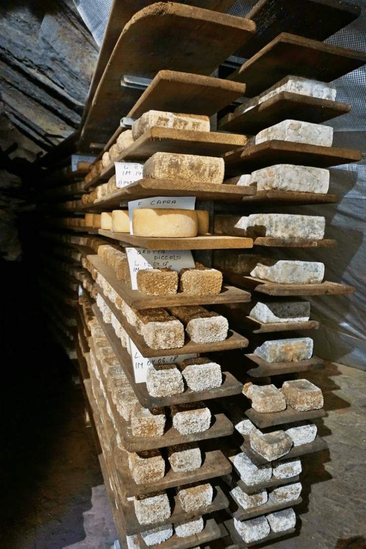 Cheese aging, Caglieron caves