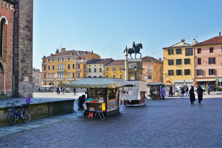 Mercato delle Coronare, Piazza del Santo