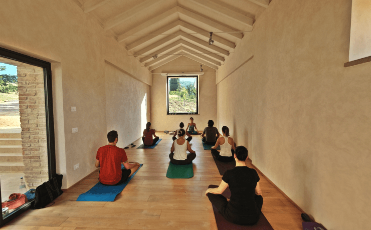 Yoga studio at Podere Trafonti
