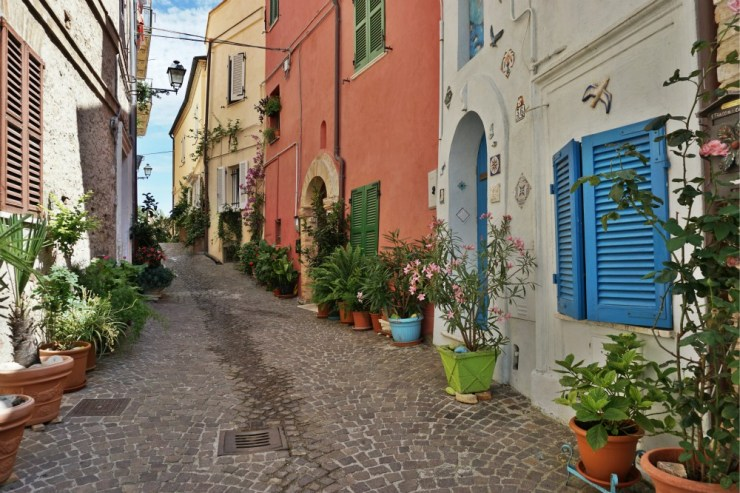 Quaint alley in Grottammare