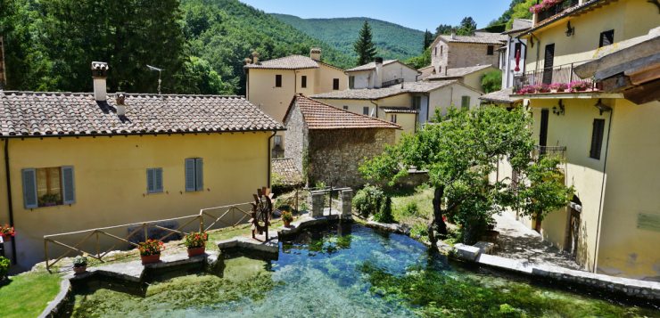 Rasiglia, the village of brooks in Umbria