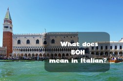 boh meaning in Italian