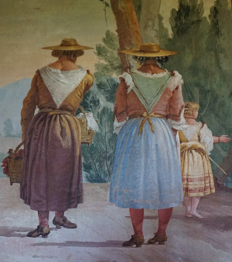 Paesants in Sunday dresses, Detail of a Guesthouse fresco