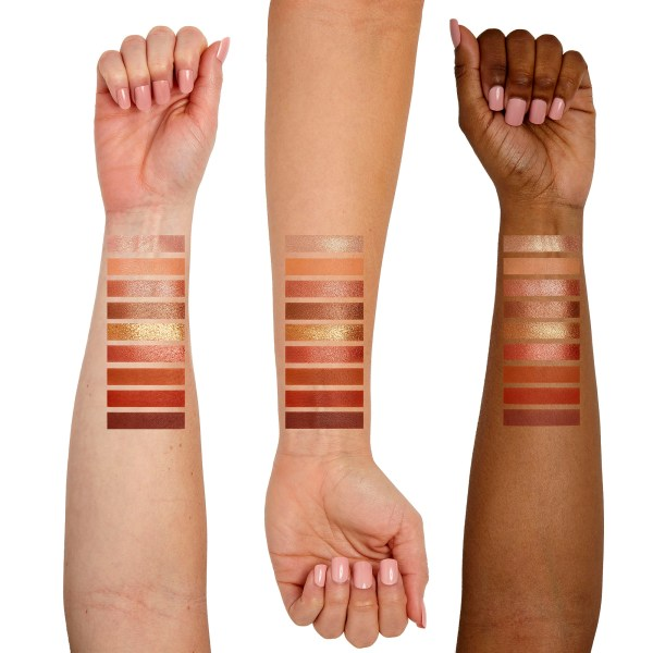 Sigma Beauty Fiery Pallete Arm Swatches