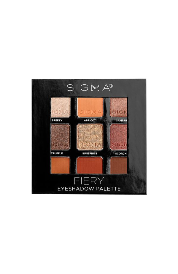 Sigma On The Go Fiery Palette Closed