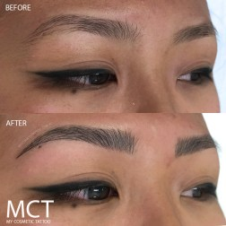Eyebrow Feathering Tattoo Before & After