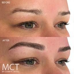Brow Feathering Tattoo