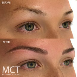 3D Brow Tattoo Feathering