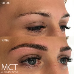 Eyebrow Feathering Tattoo