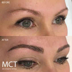 Before & After Feathering Brow Tattoo