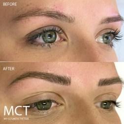 Healed & Touched up Brow Feathering Tattoo