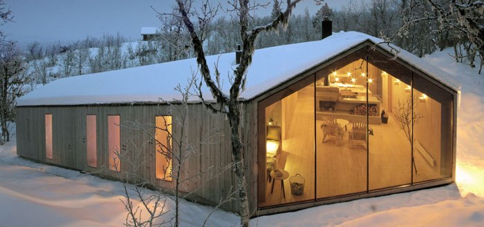 Minimalist mountain cabin in norway for Minimalist cabin design