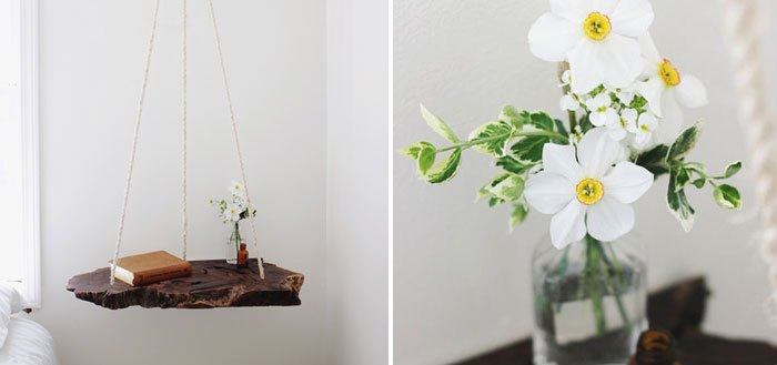 Adorable DIY hanging bedside table | My Cosy Retreat
