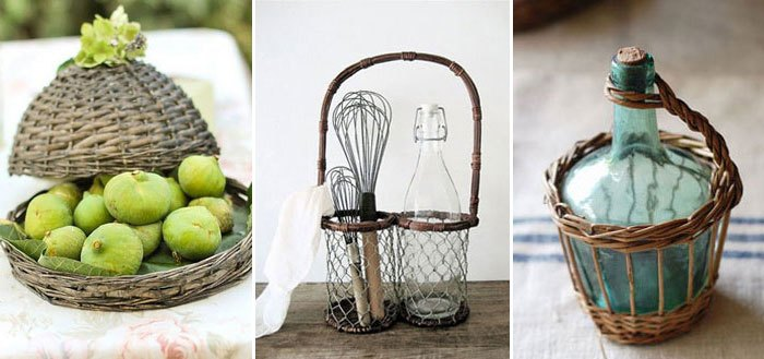 Adorable kitchen wicker and rattan accessories | My Cosy Retreat