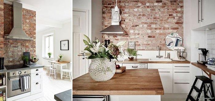 10 charming brick wall kitchen designs | My Cosy Retreat