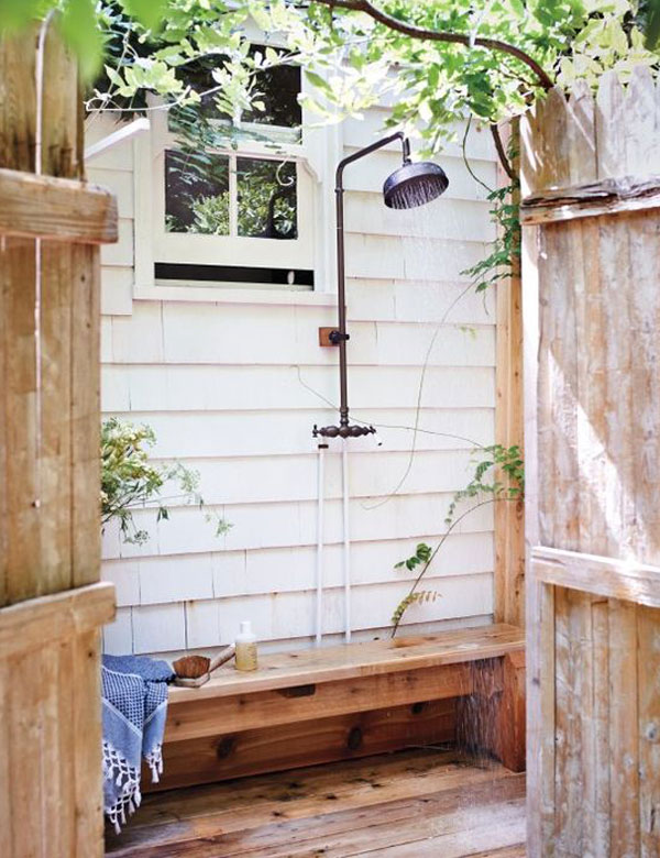 13 awesomely inspiring outdoor bathroom designs | My Cosy Retreat