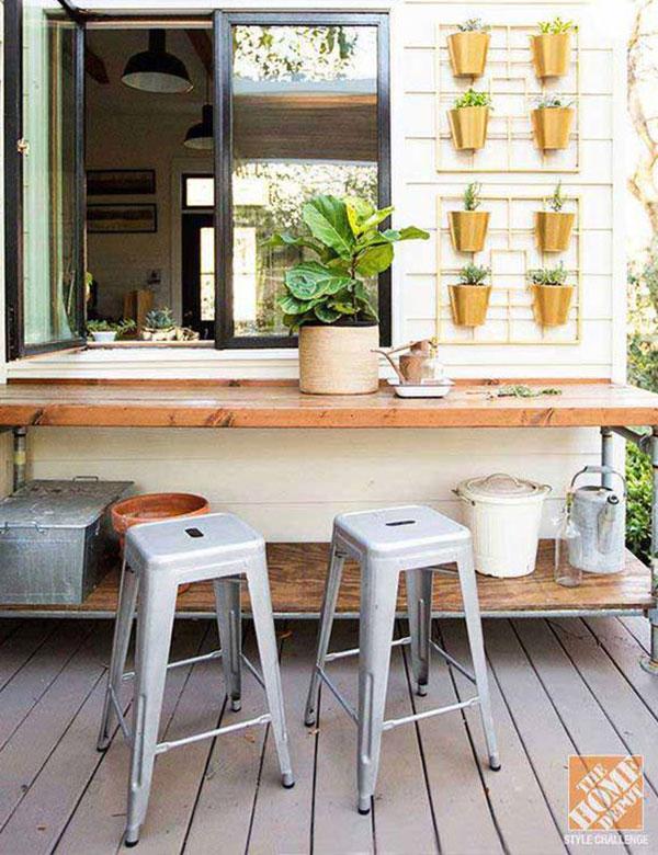 10 cozy & super cute kitchen window bar designs | My Cosy Retreat
