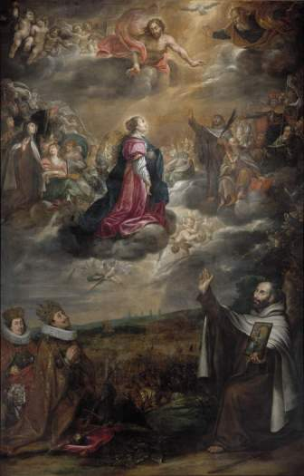 Painting celebrating the Catholic victory, by Antonín Stevens
